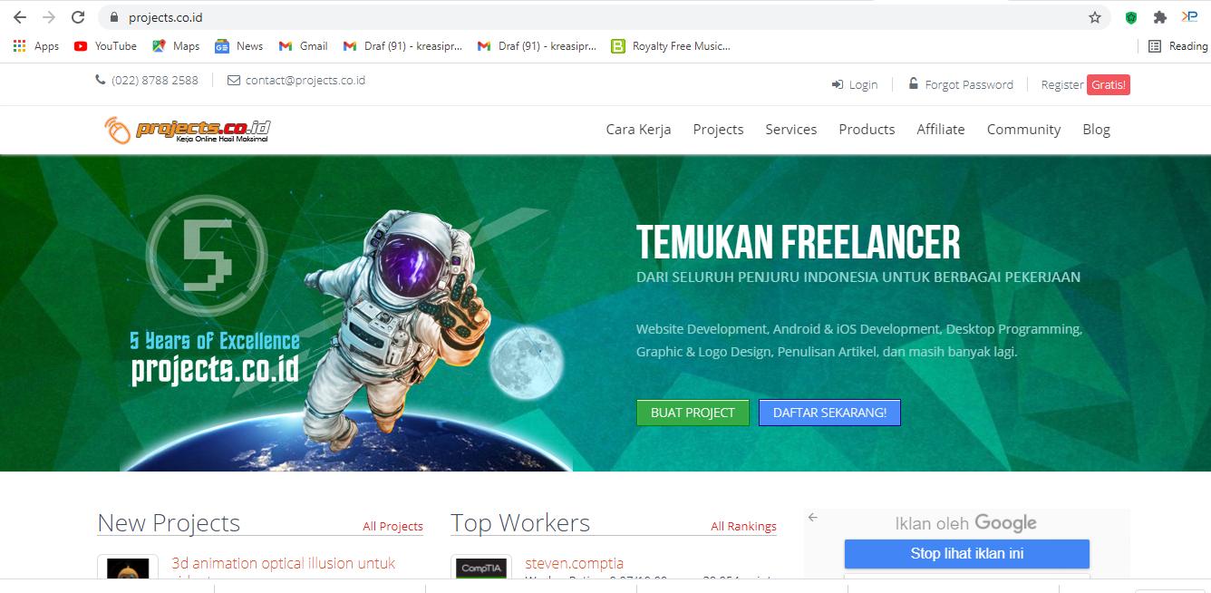 website menarik untuk freelancer desainer grafis.