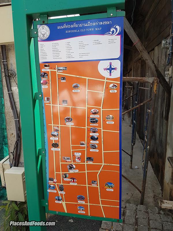 songkla old town map