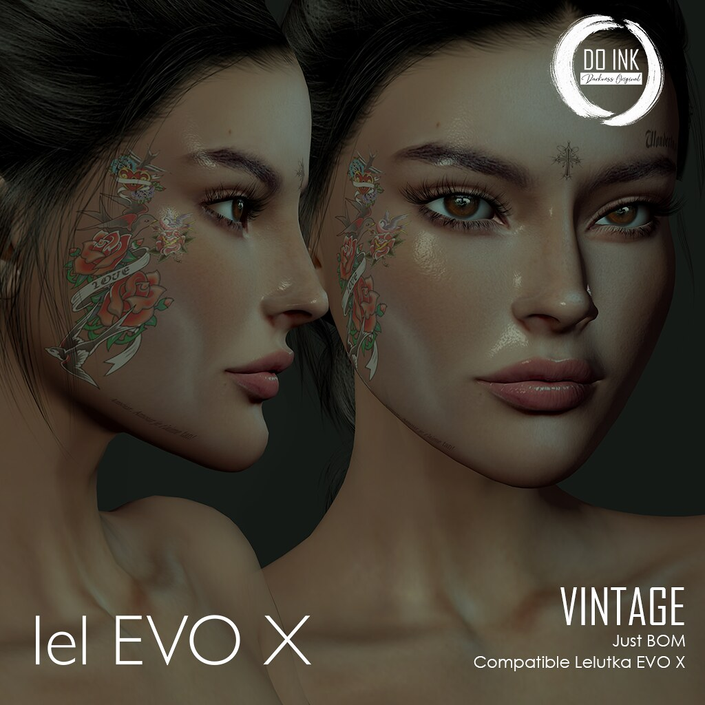 NEW DO INK TATTOO VINTAGE FACE EVO X  FOR JAIL EVENT