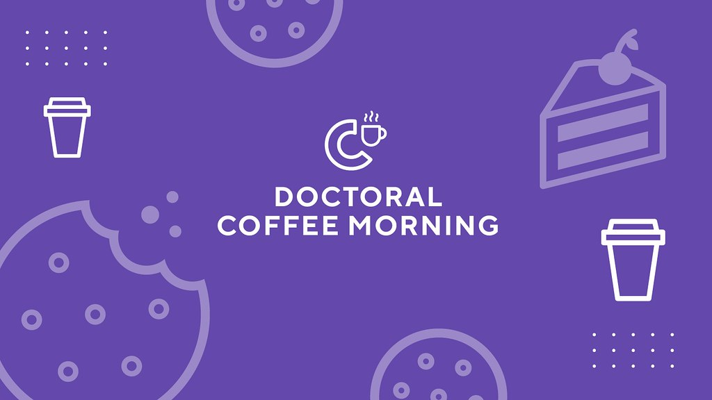 Logo with coffee cups, cakes and cookies