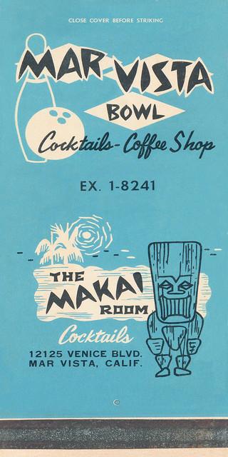 Mar Vista Bowl, Makai Room, Mar Vista, CA
