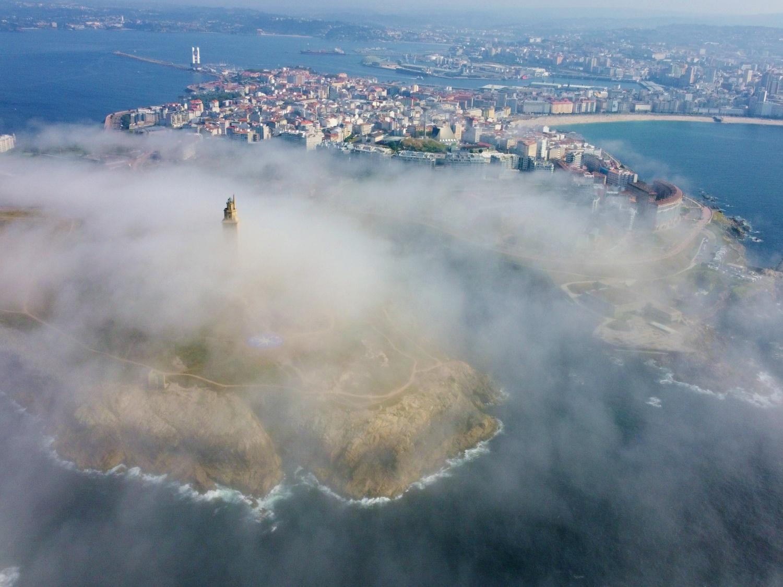 Tower of Hercules drone