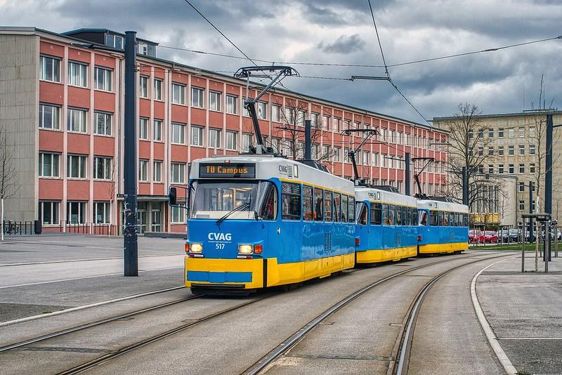 Abschiedsfahrt-Tatra am Campus