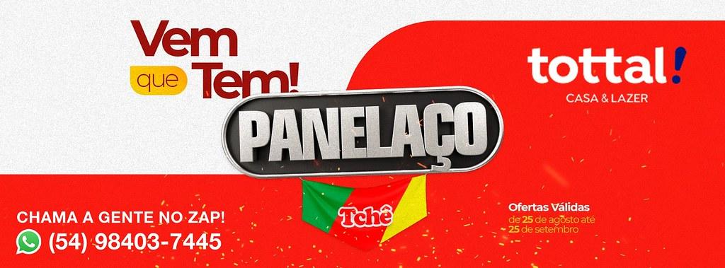 Vem que tem pro Panelaço Tchê Tottal São Gabriel! Clique aqui