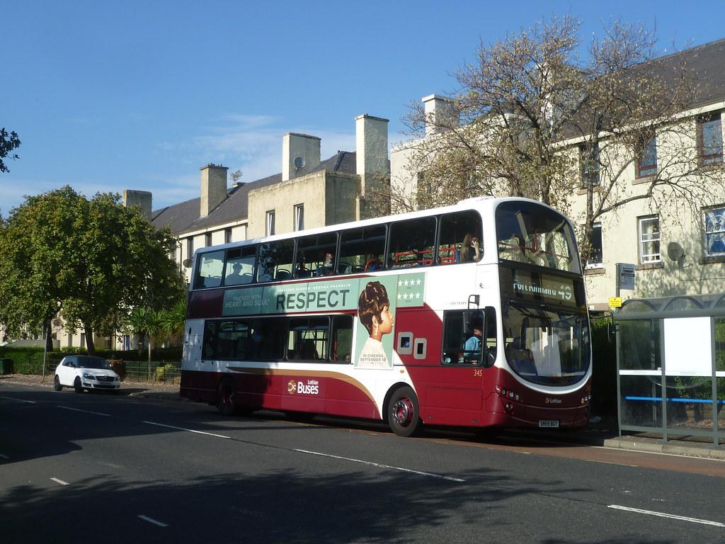 Lothian 345 on Craigentinny Road, Edinburgh.