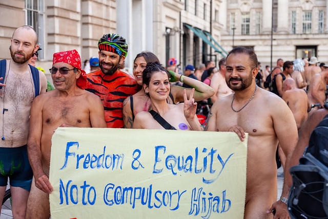World Naked Bike Ride 2019 - London -  AUTOMATIC BLOCK FOR FAVING more than 5 . Please leave a comment