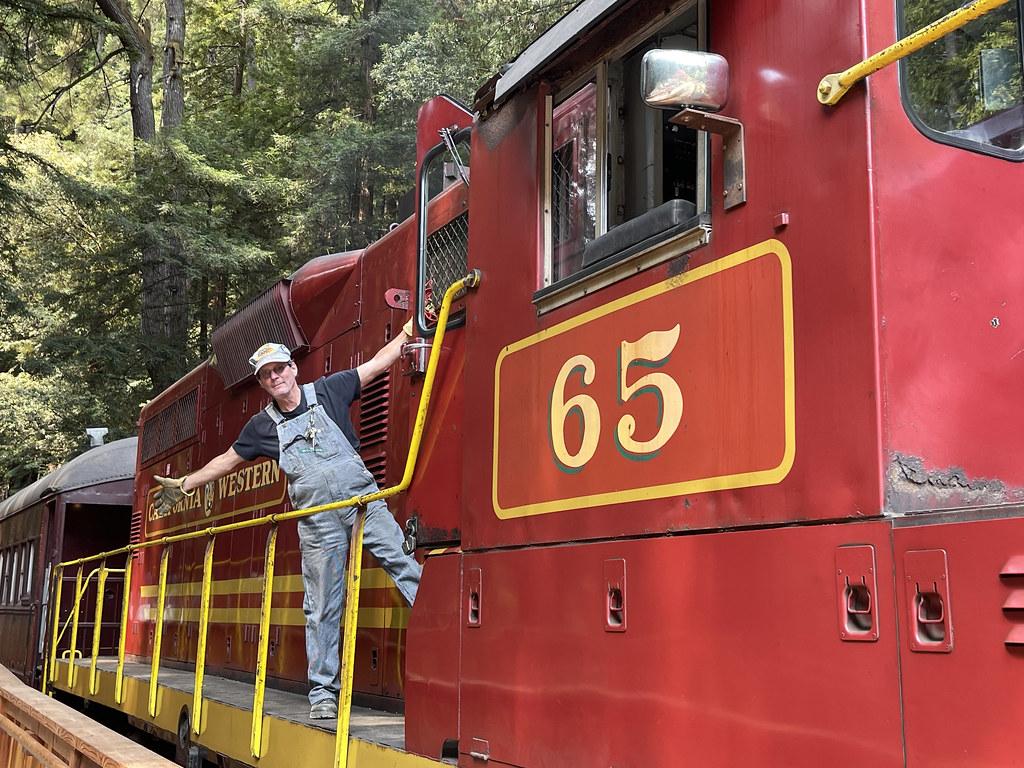 Engineer Rick and engine 65