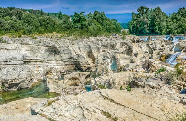 Ceze Limestone rocks & River