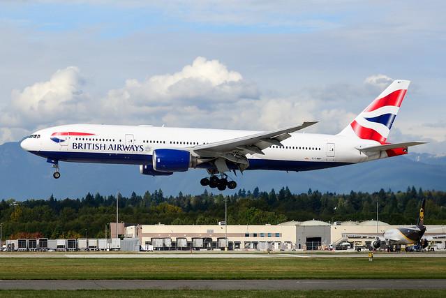 CYVR - British Airways B777-236(ER) G-YMMP