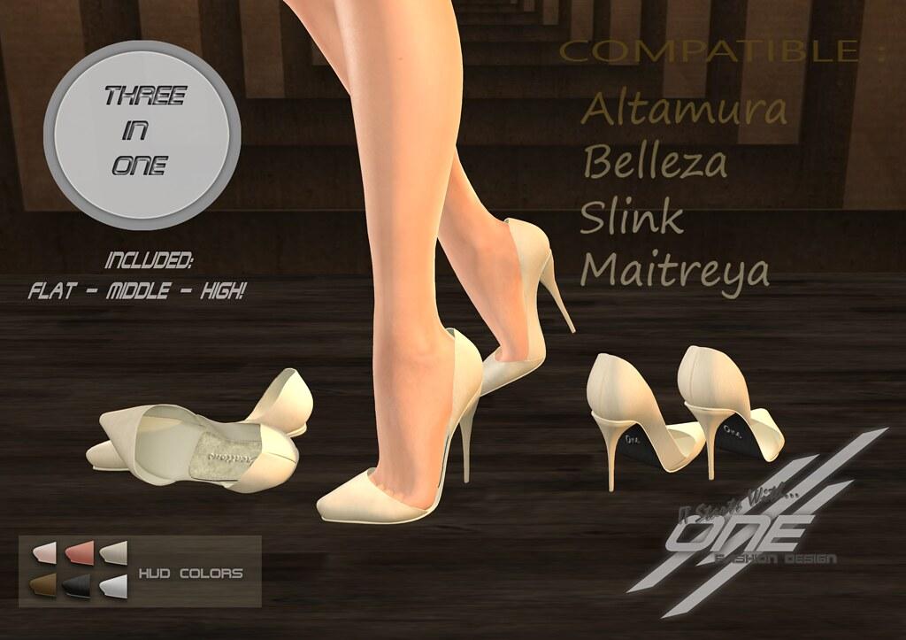 ONE-JOYCE heels (Plain)