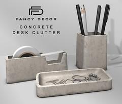 Concrete Desk Clutter @ Equal10