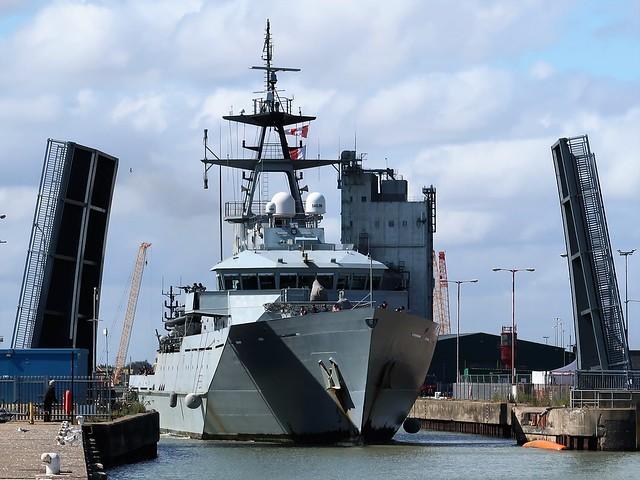 River class patrol vessel HMS Tyne, P 281, Royal Navy