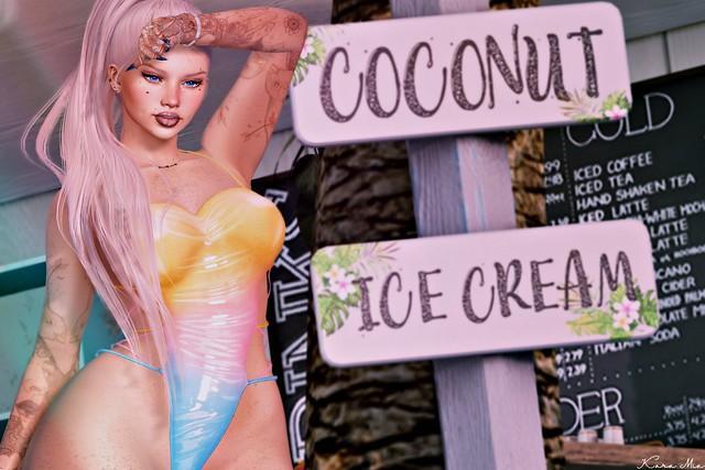 Coconut + Ice Cream = Yum!