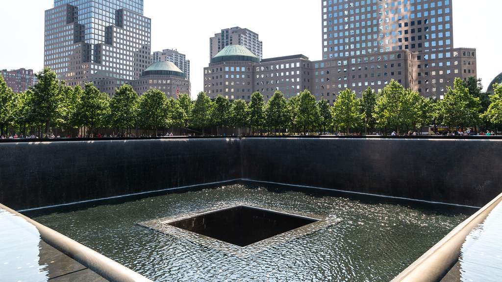 The 9/11 Memorial in NYC