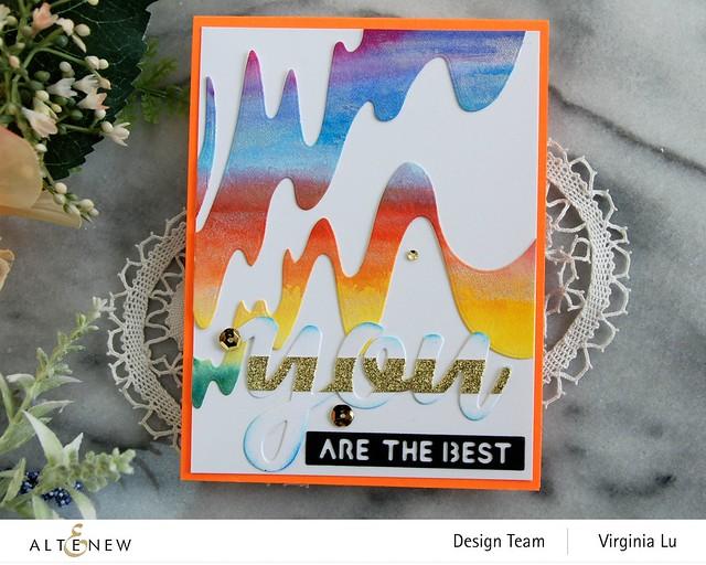 Altenew-Wave Form Cover Die-You Matter Die Set-24 Watercolor Pan Set-Dazzling Diamond Glitter CArdstock-002