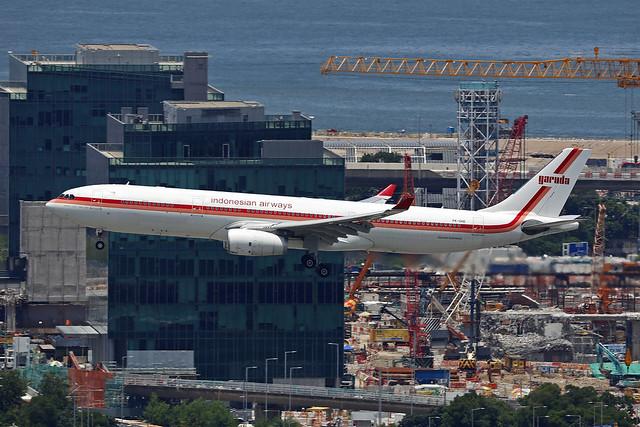 PK-GHD, Airbus A330-300, Garuda Indonesia, Hong Kong