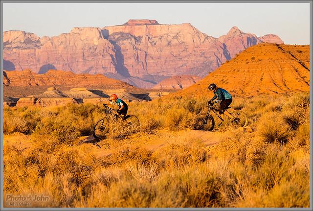 Father Son Mountain Biking Zion