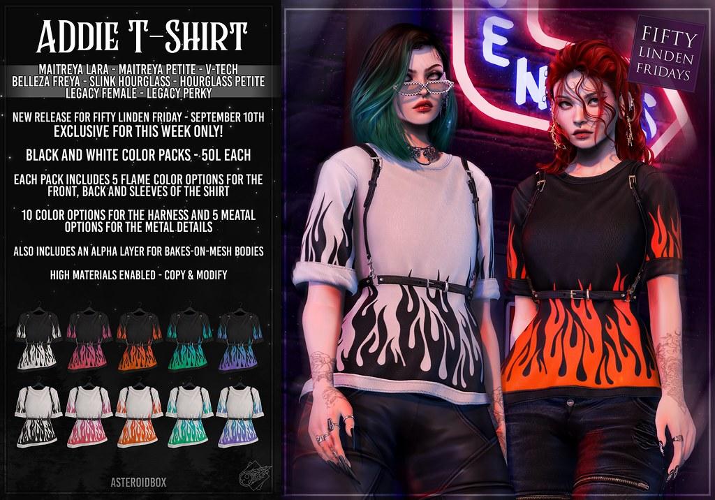 AsteroidBox. Addie T-Shirt – FLF Exclusive Retexture