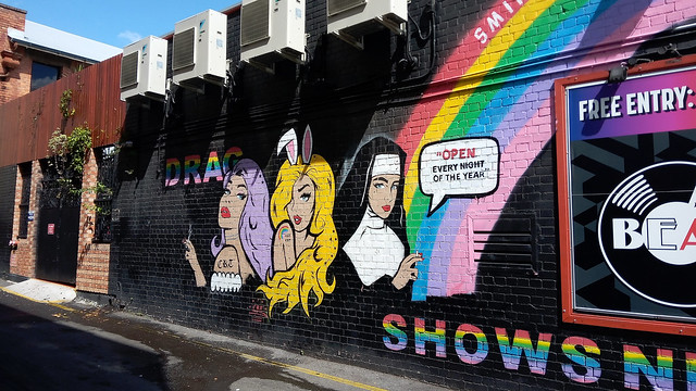 Drag Themed Mural in Fortitude Valley, Brisbane