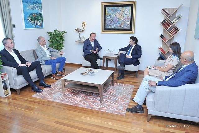 """Dritan Abazović - predstavnici kazahstanske avio-kompanije """"Air Astana"""" (10.09.2021.)"""