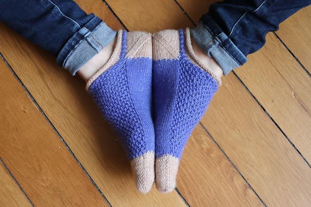 Simple textured ankle socks