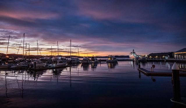 Morning colour, Constitution Dock, Hobart, Tasmania