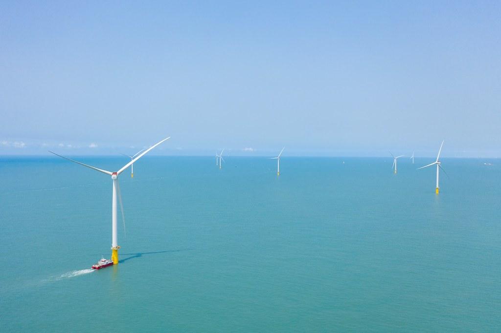 允能風場施工照片。達德能源提供
