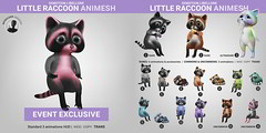 SEmotion Libellune Little Raccoon Animesh
