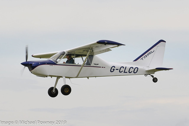 G-CLCO - 2019 build Nando Groppo Trail Mk.2, inbound to Sywell during the 2019 LAA Rally