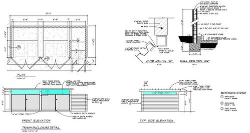 Trash Enclosure Detail for Ryan Csaftis-AMP Industrial Park