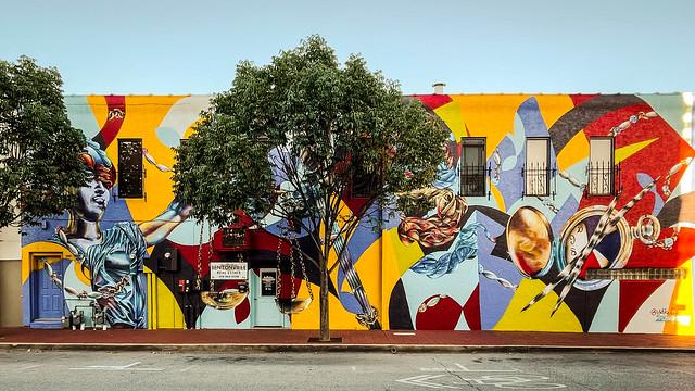 Yatika Starr Fields, Astonishment of Perception, Bentonville, 2018, 9/8/21 #publicart #mural