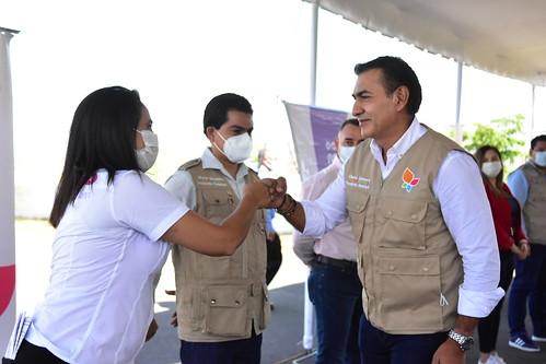 El Presidente de Tlajomulco Salvador Zamora Asistió a la Entrega de Apoyos a Afectados por las Inundaciones