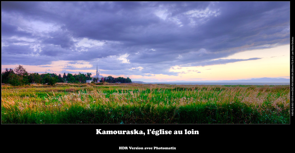 Kamouraska, l'église au loin