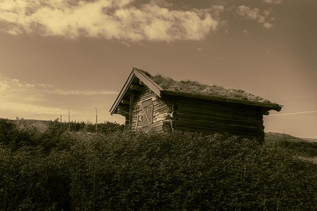 Norwegian lonely cabin.