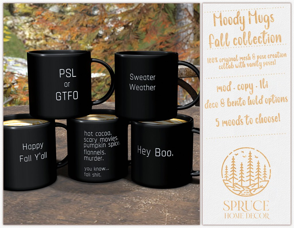 .spruce. moody mugs: fall collection