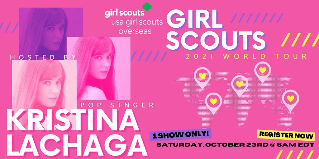 USA Girl Scouts Overseas' Girl Scouts World Tour with Kristina Lachaga!