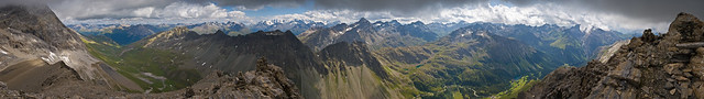 Panorama vom Igl Compas (Albulagebiet)