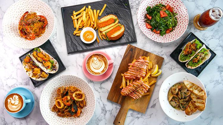 Food menu at knock knock cafe