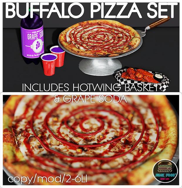 Junk Food - Buffalo Chicken Pizza Set