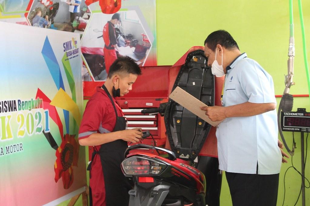 Dukung Dunia Pendidikan, Main Dealer Yamaha PT Thamrin Brothers Ambil Bagian di Lomba Kompetensi Siswa (LKS) Bengkulu