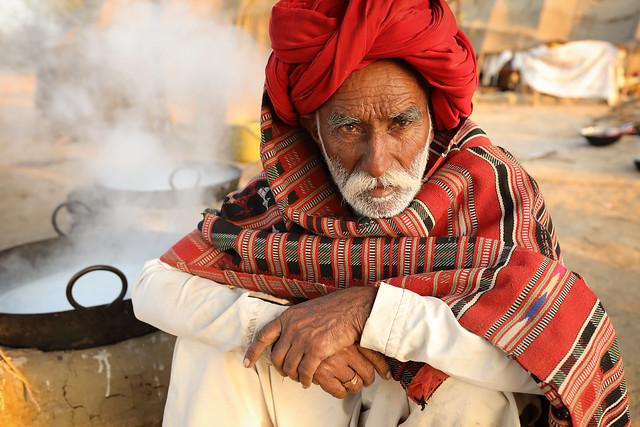 India, Rabari herder in Kutch