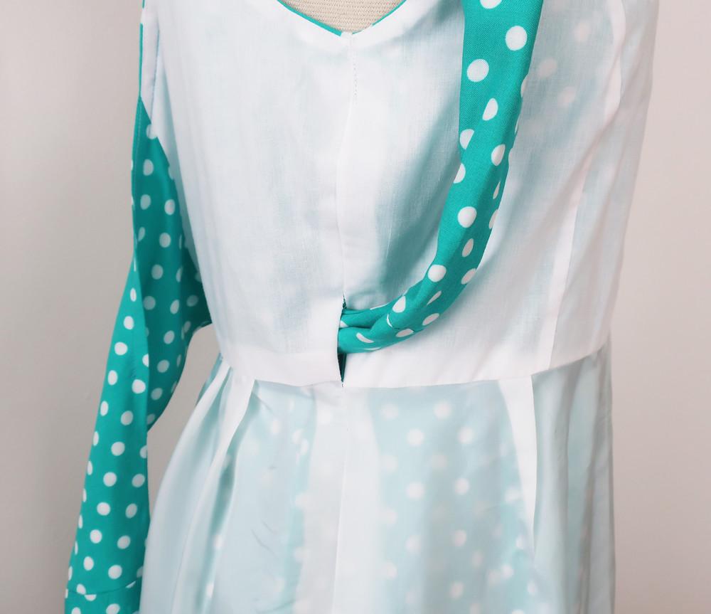 green dot dress inside lining