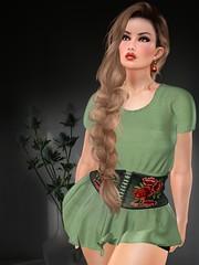 GGVG SOLEIL GREEN DRESS