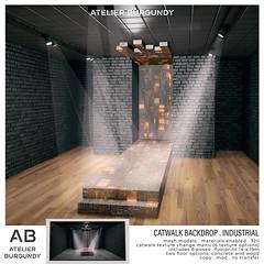 Atelier Burgundy . Catwalk Backdrop Industrial