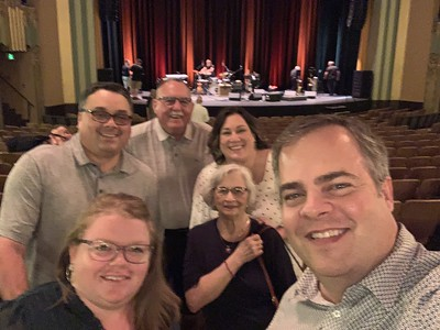 Greg, Erin, Joan, Eddie, Carrie, and I at the Larry Carlton Concert in Hutchinson, KS