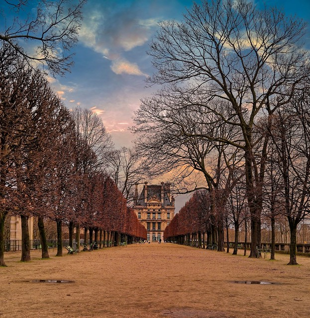 Paris / Jardin des Tuileries - Pavillon de Flore / Terrasse du bord de l'eau