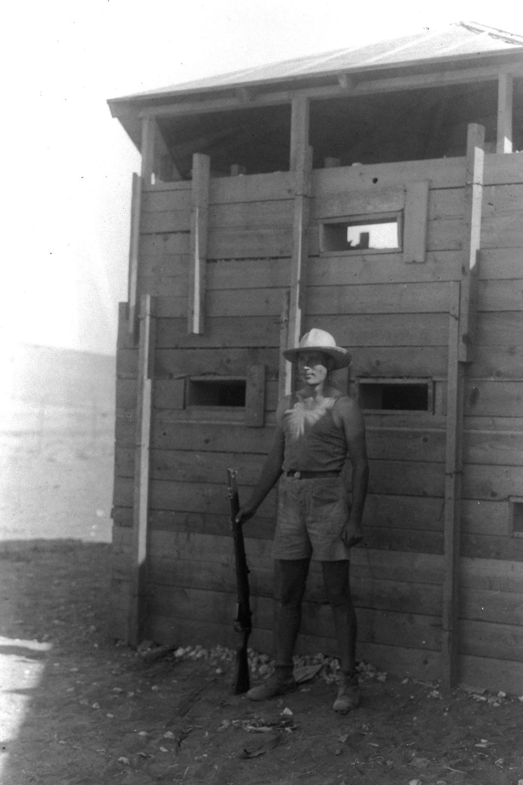 1937. Еврейская поселенческая полиция в кибуце Кфар-Менахем. 10.01.