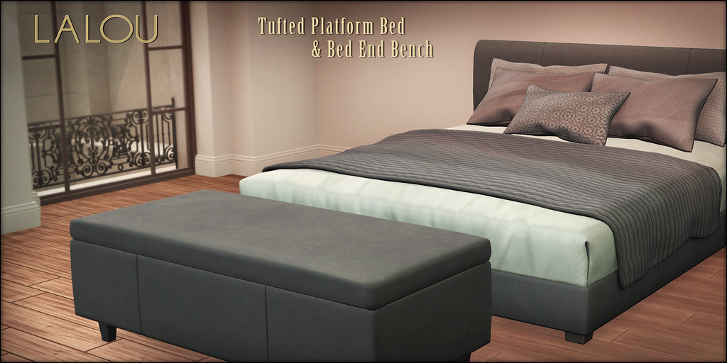 Lalou – Tufted Bed & Bed End Bench
