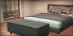 Lalou - Tufted Bed & Bed End Bench