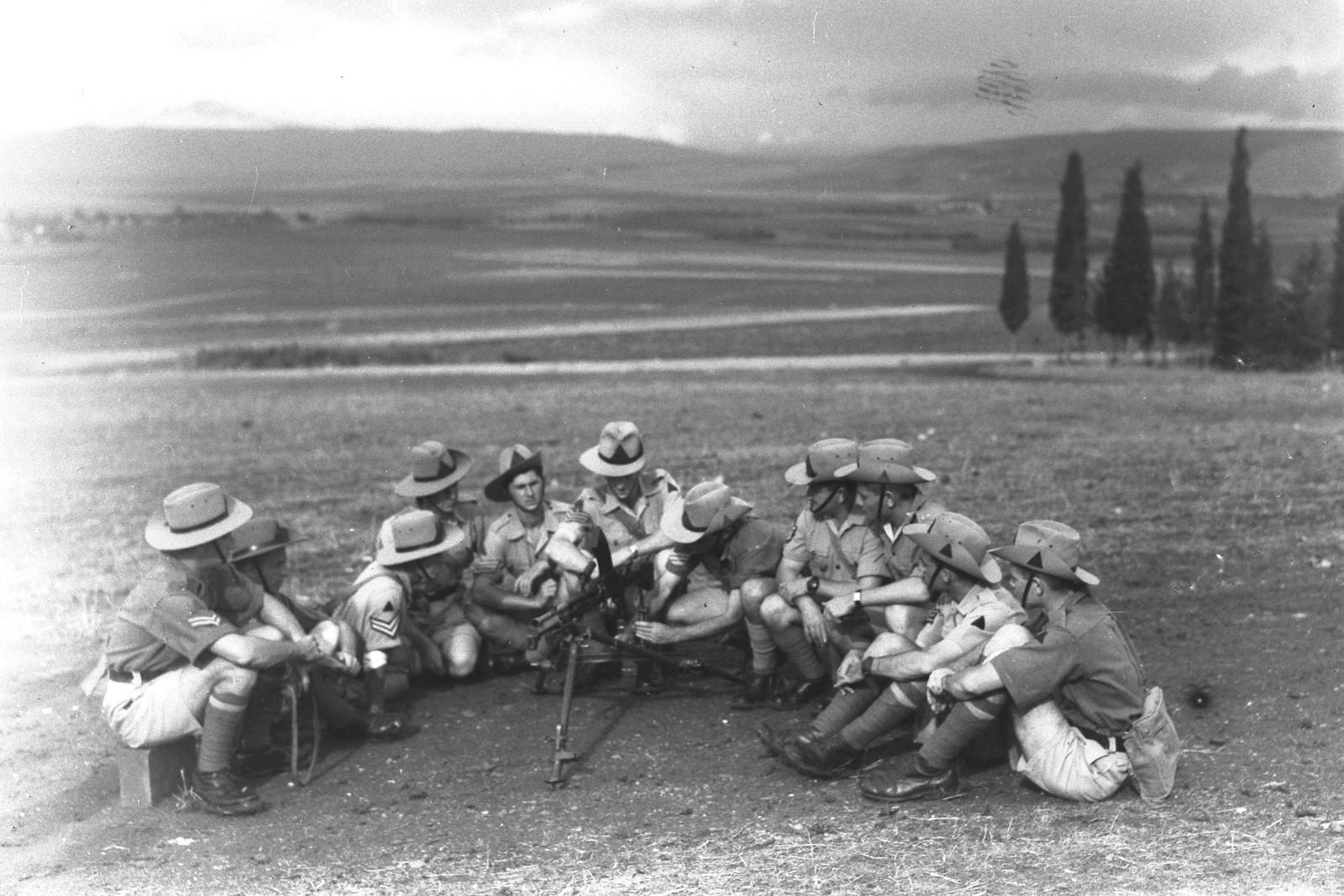 1942. Тренировочная база полиции еврейского ишува в «Кфар Еладим». 08.02